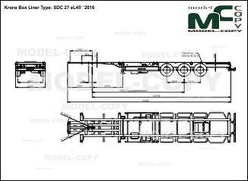 Krone Box Liner Type: SDC 27 eL45' '2016 - drawing