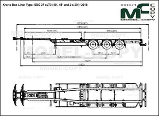 Krone Box Liner Type: SDC 27 eLT3 (40', 45' and 2 x 20') '2018 - drawing
