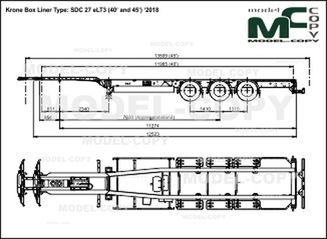 Krone Box Liner Type: SDC 27 eLT3 (40' and 45') '2018 - drawing