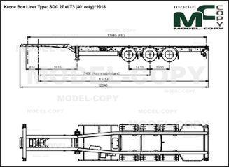 Krone Box Liner Type: SDC 27 eLT3 (40' only) '2018 - drawing