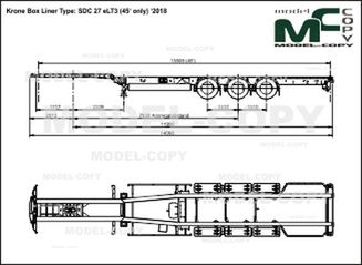 Krone Box Liner Type: SDC 27 eLT3 (45' only) '2018 - drawing