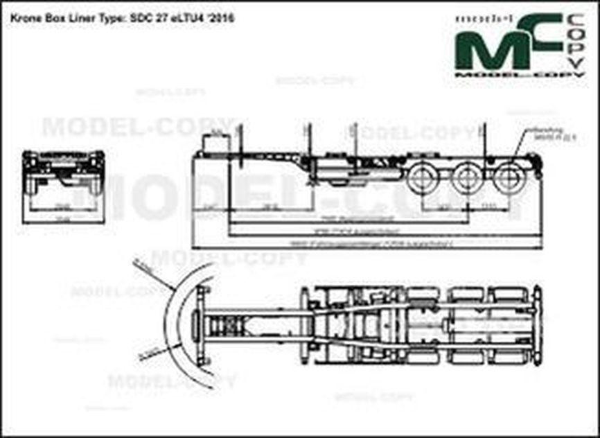 Krone Box Liner Type: SDC 27 eLTU4 '2016 - drawing