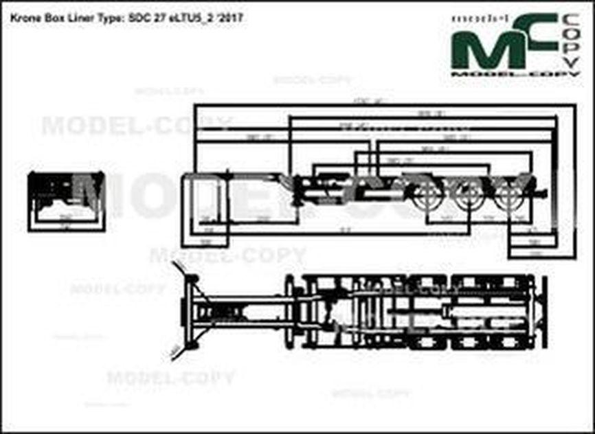 Krone Box Liner Type: SDC 27 eLTU5_2 '2017 - drawing