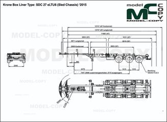 Krone Box Liner Type: SDC 27 eLTU6 (Sled Chassis) '2015 - drawing