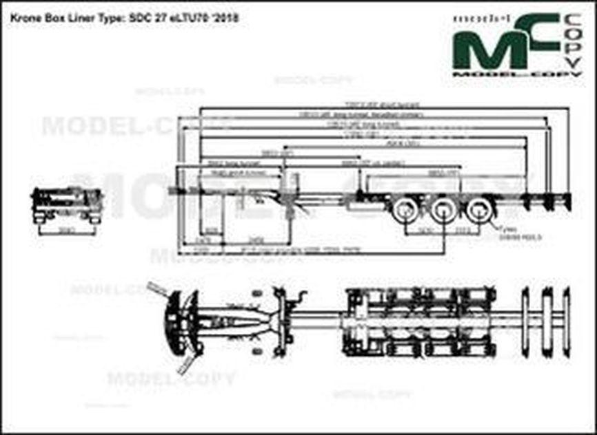 Krone Box Liner Type: SDC 27 eLTU70 '2018 - drawing