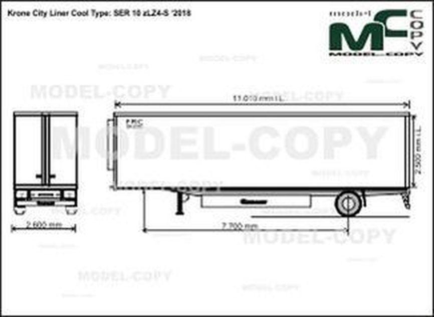 Krone City Liner Cool Type: SER 10 zLZ4-S '2018 - drawing