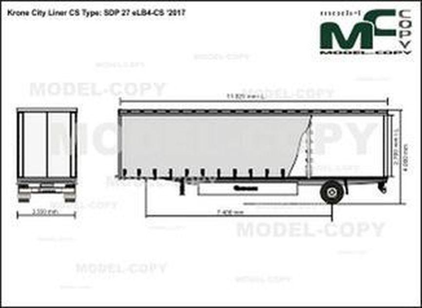 Krone City Liner CS Type: SDP 27 eLB4-CS '2017 - drawing