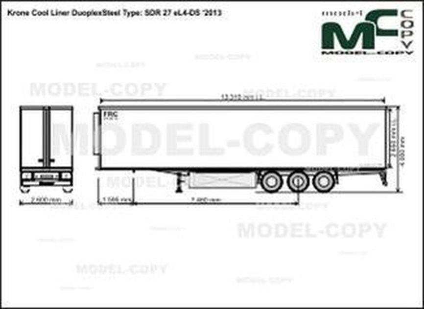 Krone Cool Liner DuoplexSteel Type: SDR 27 eL4-DS '2013 - drawing