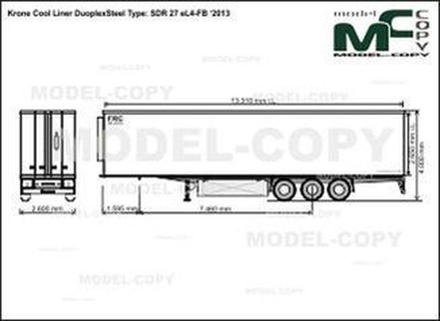 Krone Cool Liner DuoplexSteel Type: SDR 27 eL4-FB '2013 - drawing