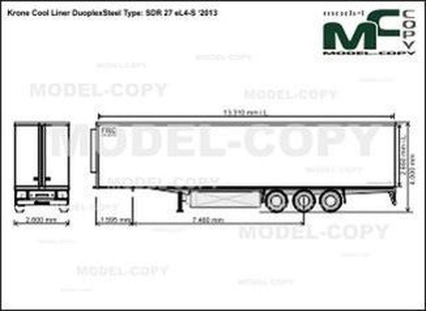 Krone Cool Liner DuoplexSteel Type: SDR 27 eL4-S '2013 - drawing