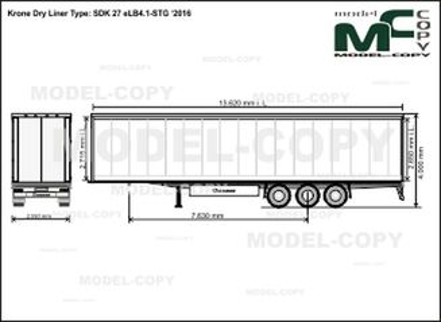 Krone Dry Liner Type: SDK 27 eLB4.1-STG '2016 - drawing