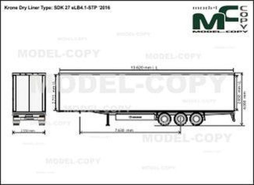 Krone Dry Liner Type: SDK 27 eLB4.1-STP '2016 - drawing