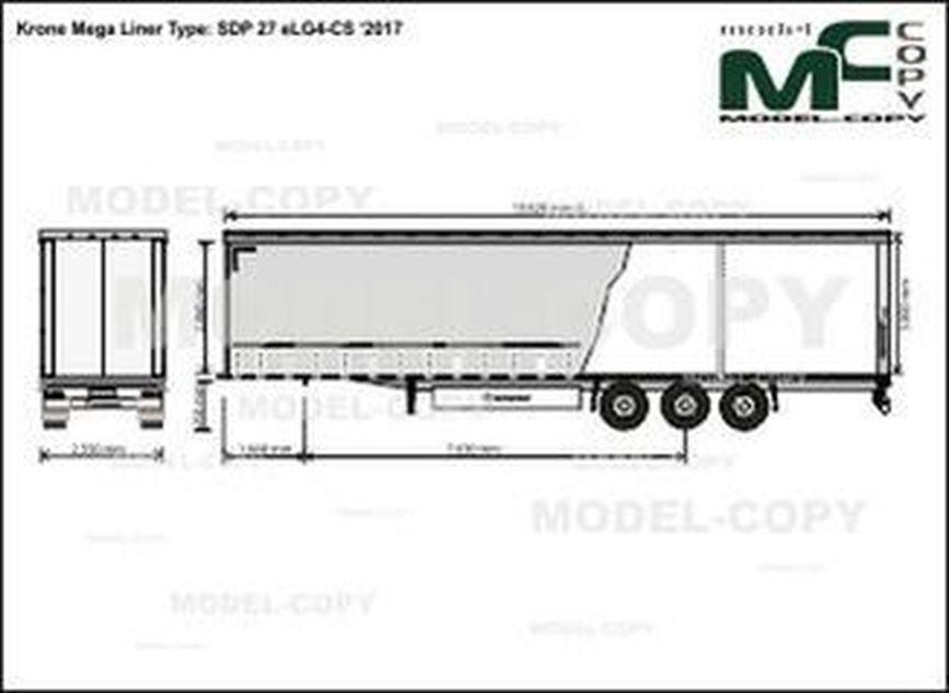 Krone Mega Liner Type: SDP 27 eLG4-CS '2017 - drawing