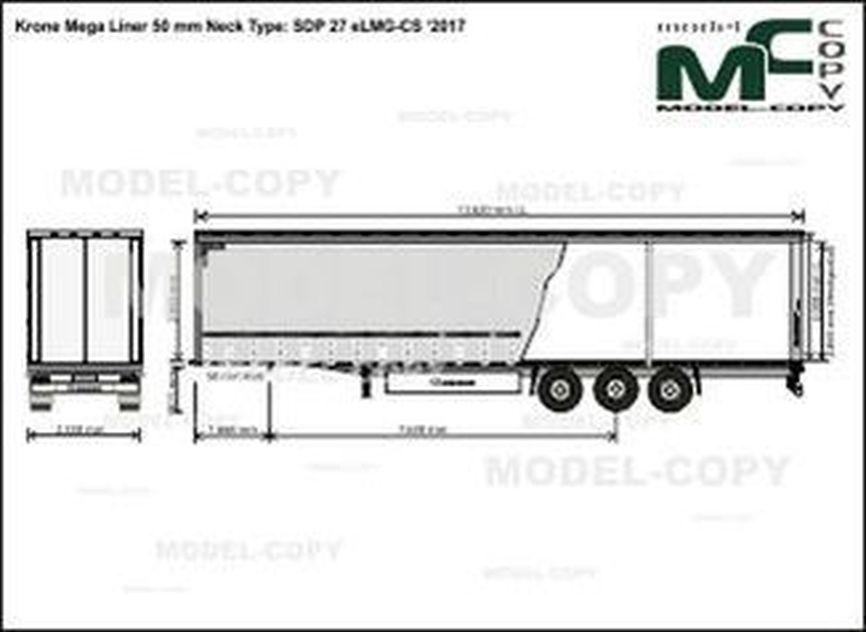 Krone Mega Liner 50 mm Neck Type: SDP 27 eLMG-CS '2017 - drawing