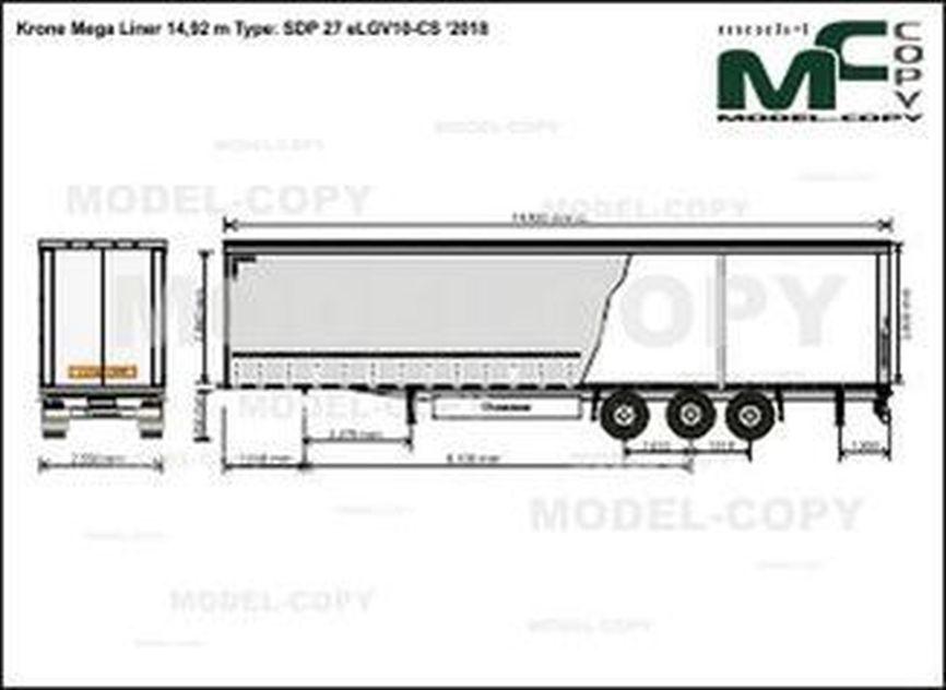 Krone Mega Liner 14,92 m Type: SDP 27 eLGV10-CS '2018 - drawing
