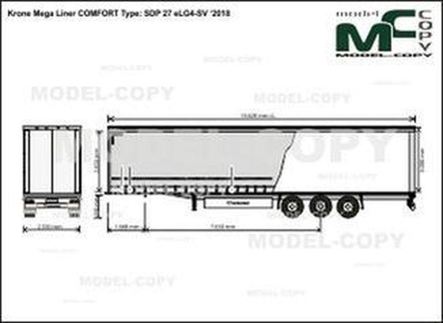 Krone Mega Liner COMFORT Type: SDP 27 eLG4-SV '2018 - drawing
