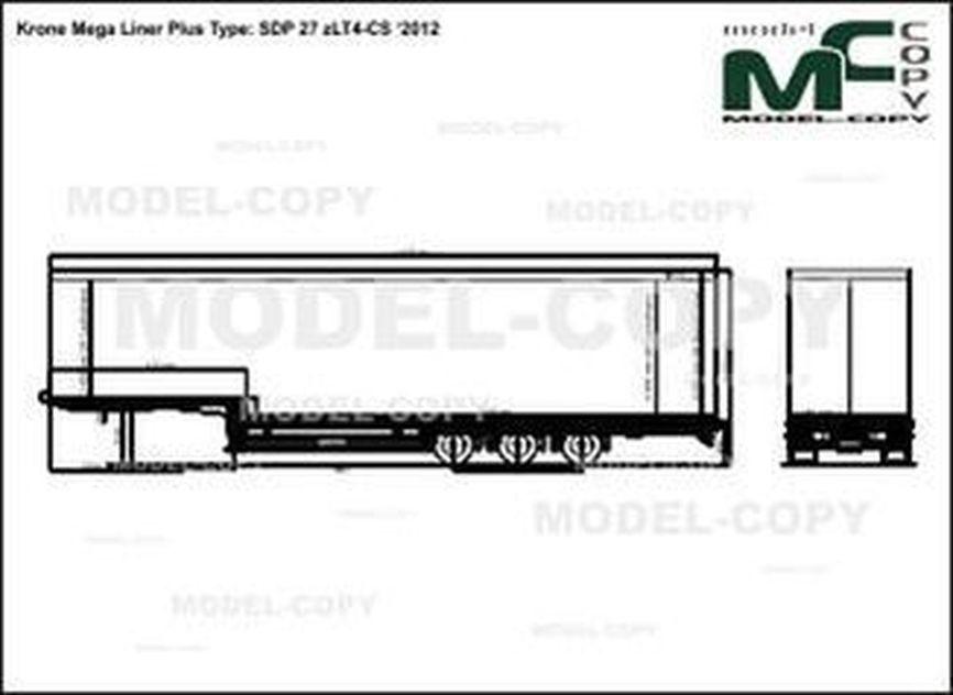 Krone Mega Liner Plus Type: SDP 27 zLT4-CS '2012 - drawing