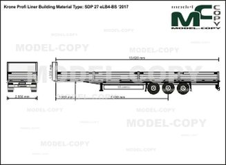 Krone Profi Liner Building Material Type: SDP 27 eLB4-BS '2017 - drawing