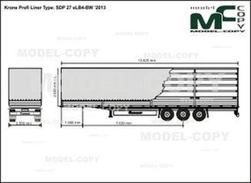 Krone Profi Liner Type: SDP 27 eLB4-BW '2013 - drawing