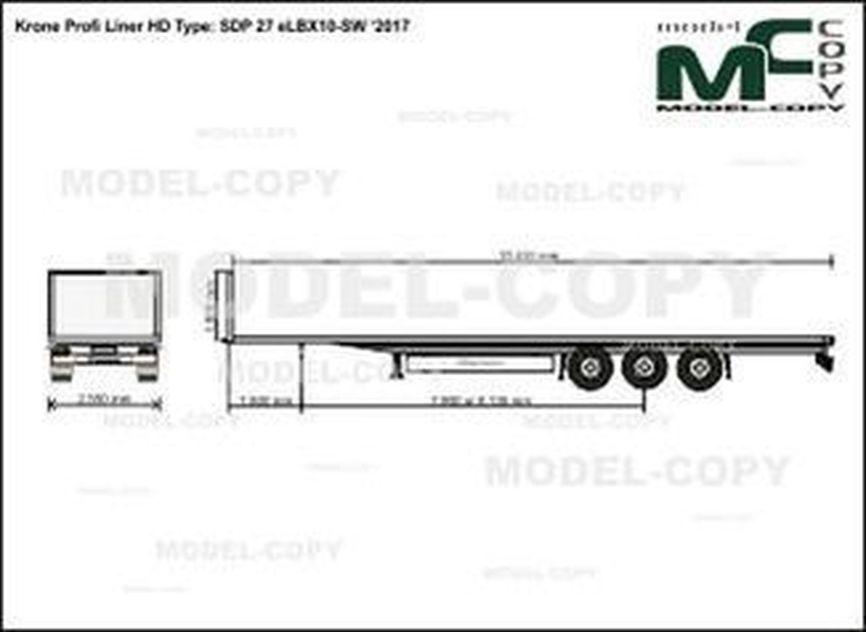 Krone Profi Liner HD Type: SDP 27 eLBX10-SW '2017 - drawing