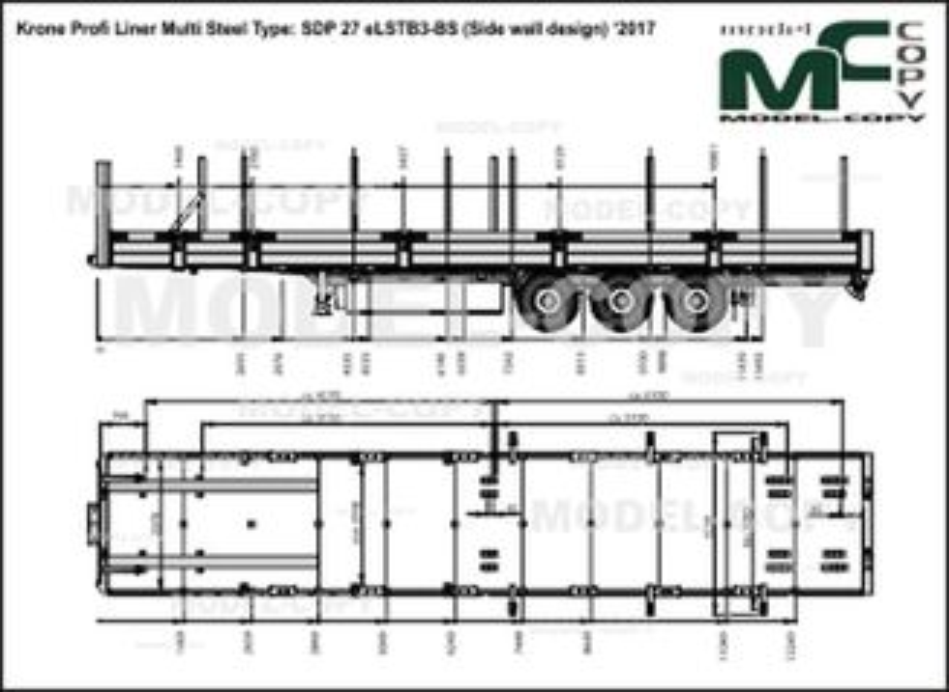 Krone Profi Liner Multi Steel Type: SDP 27 eLSTB3-BS (Side wall design) '2017 - drawing