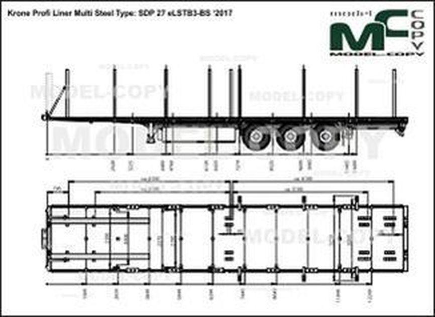 Krone Profi Liner Multi Steel Type: SDP 27 eLSTB3-BS '2017 - drawing