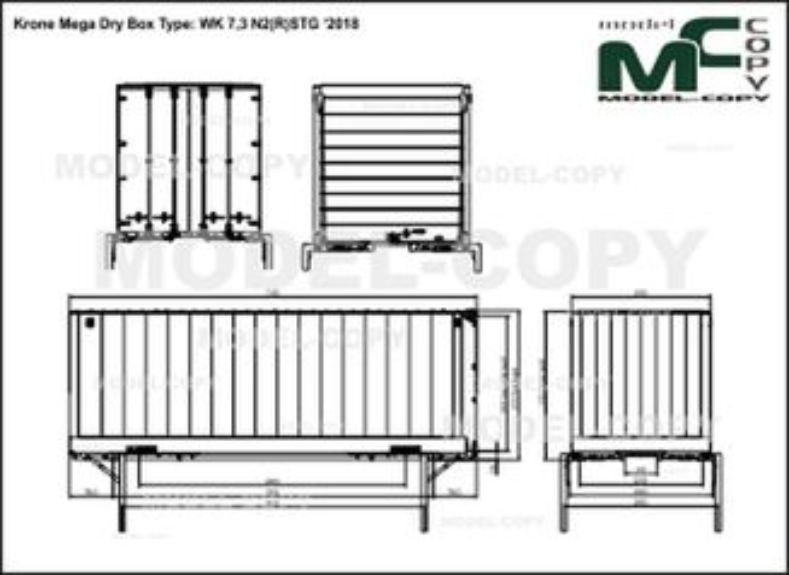 Krone Mega Dry Box Type: WK 7,3 N2(R)STG '2018 - drawing