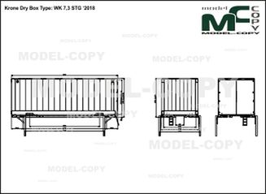 Krone Dry Box Type: WK 7,3 STG '2018 - drawing