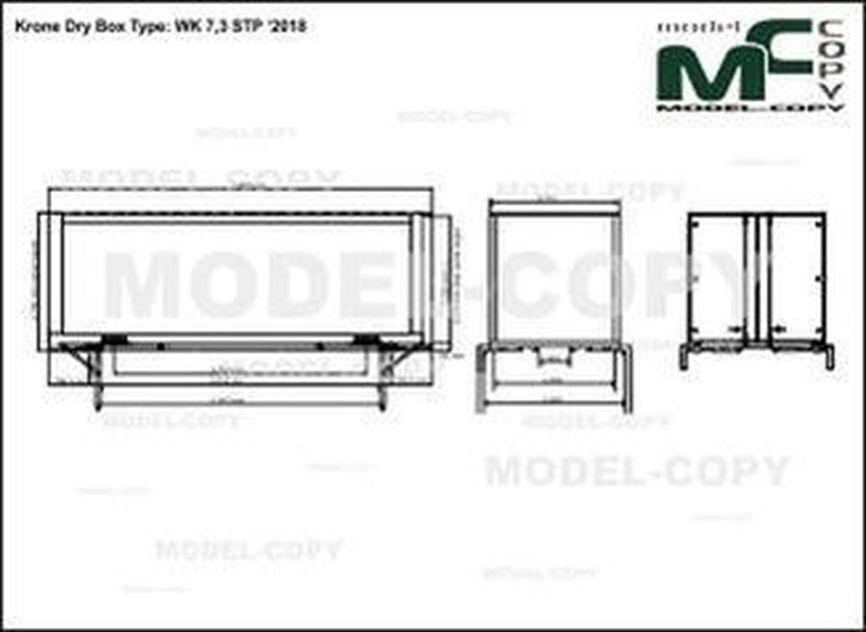 Krone Dry Box Type: WK 7,3 STP '2018 - drawing