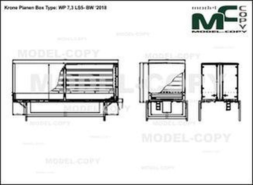 Krone Planen Box Type: WP 7,3 LS5- BW '2018 - drawing
