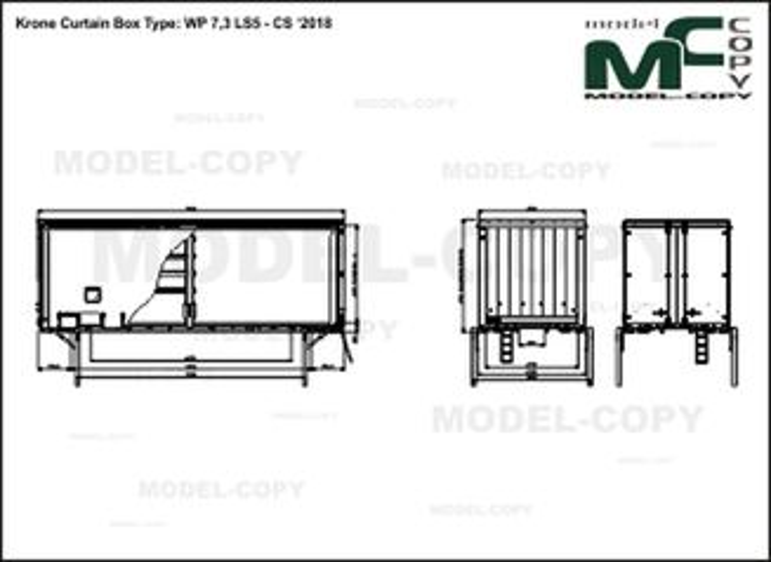 Krone Curtain Box Type: WP 7,3 LS5 - CS '2018 - drawing
