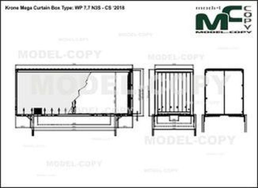 Krone Mega Curtain Box Type: WP 7,7 N3S - CS '2018 - drawing