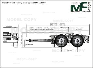 Krone Dolly with steering axles Type: ZZB 18 eLZ '2018 - drawing