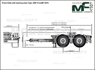 Krone Dolly with steering axles Type: ZZB 18 eLZM '2018 - drawing