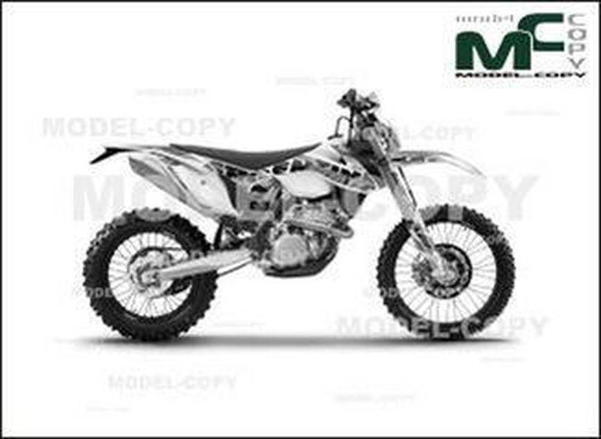 KTM 450 EXC SIX DAYS '2015 - 2D drawing (blueprints)