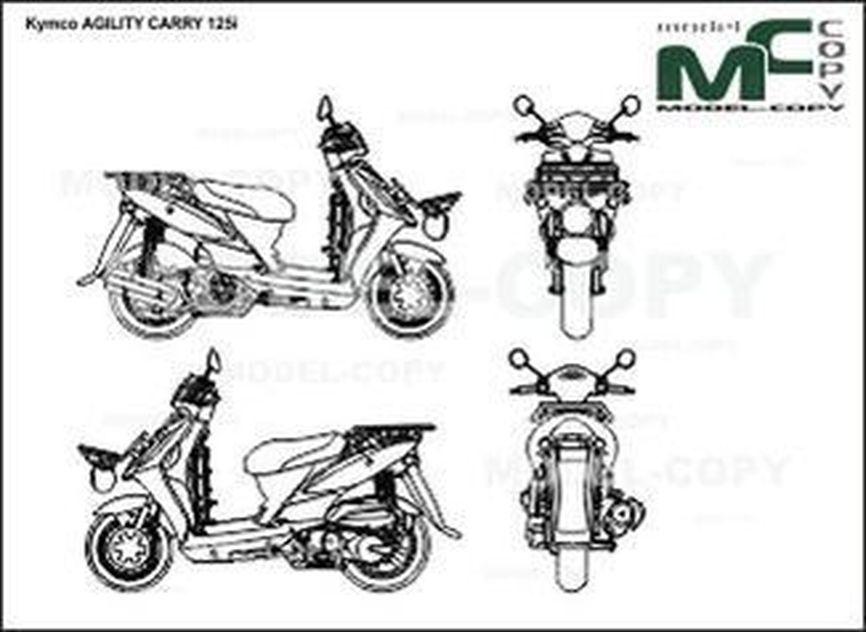 Kymco AGILITY CARRY 125i - drawing