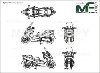 Kymco XCITING 500 AFI - drawing