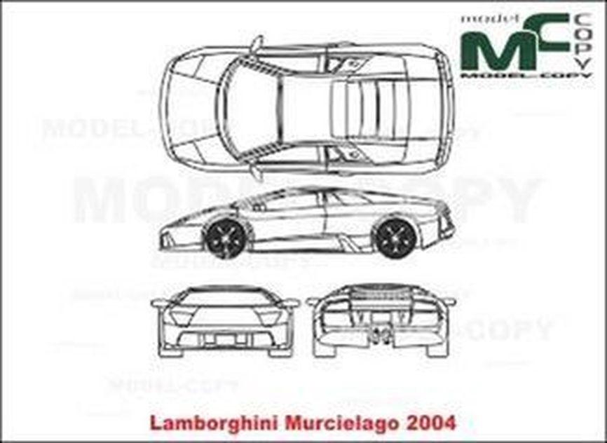 Lamborghini Murcielago (2004) - drawing