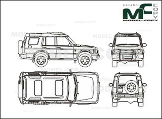 landrover discovery  2003  - drawing - 26302