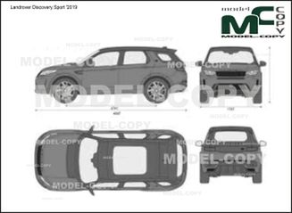 Landrover Discovery Sport '2019 - 2D drawing (blueprints)