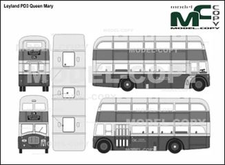 Leyland PD3 Queen Mary - drawing