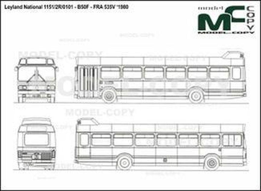 Leyland National 1151/2R/0101 - B50F - FRA 535V '1980 - 2D drawing (blueprints)
