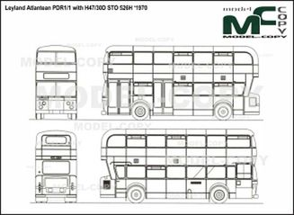 Leyland Atlantean PDR1/1 with H47/30D STO 526H '1970 - drawing