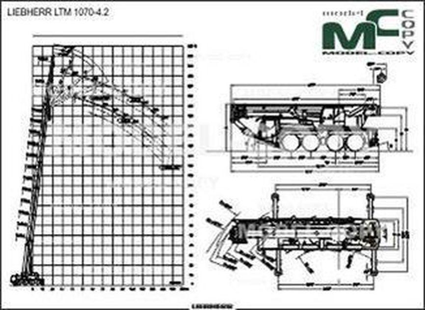 LIEBHERR LTM 1070-4.2 - 2D drawing (blueprints)
