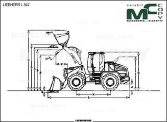LIEBHERR L 542 - 2D drawing (blueprints)