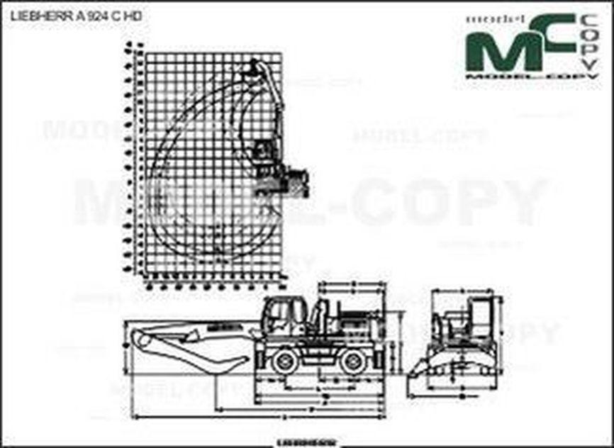 LIEBHERR A 924 C HD - drawing