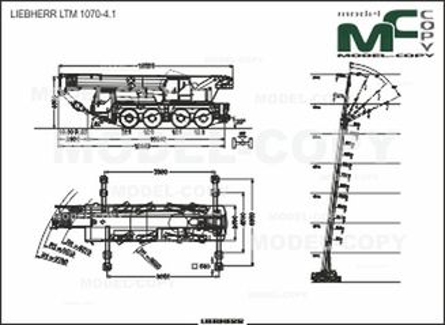 LIEBHERR LTM 1070-4.1 - 2D drawing (blueprints)