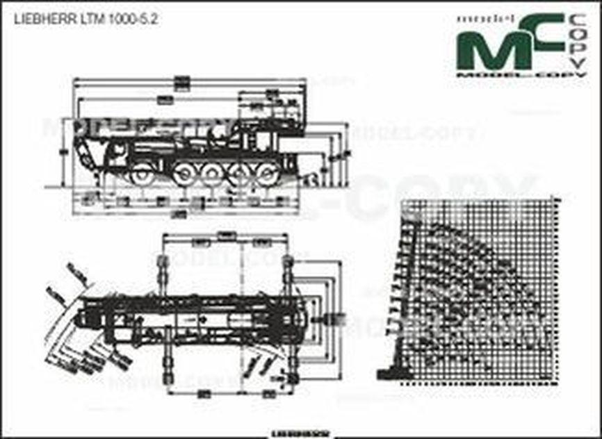 LIEBHERR LTM 1000-5.2 - 2D drawing (blueprints)