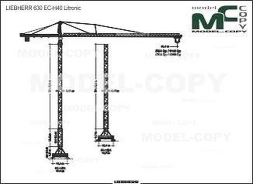 LIEBHERR 630 EC-H40 - 2D drawing (blueprints)