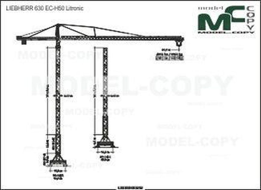 LIEBHERR 630 EC-H50 - 2D drawing (blueprints)